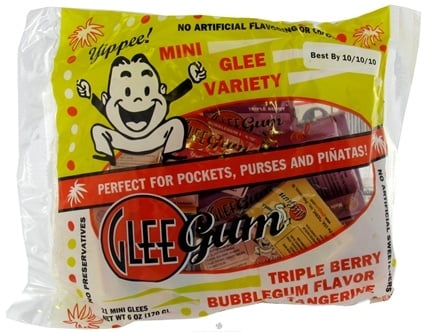 DROPPED: Glee Gum - Mini Glee Variety All Natural Chewing Gum - 21 Pack(s)
