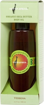 DROPPED: Out Of Africa - Organic Shea Butter Body Oil Verbena - 6.5 oz. CLEARANCE PRICED