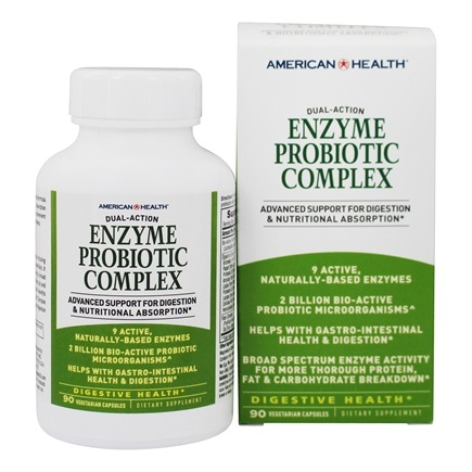 American Health - Enzyme Probiotic Complex Dual Action - 90 Vegetarian Capsules