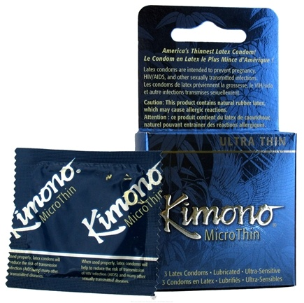 DROPPED: Mayer Laboratories - Kimono MicroThin Lubricated Latex Condom Ultra Thin - 3 Pack(s) CLEARANCE PRICED