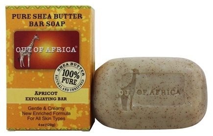 Out Of Africa - Pure Shea Butter Bar Soap Exfoliating Apricot - 4 oz.