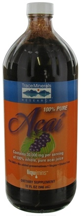 DROPPED: Trace Minerals Research - Acai 100% Pure - 32 oz. CLEARANCE PRICED