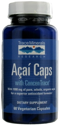 DROPPED: Trace Minerals Research - Acai Caps with Concen Trace - 60 Vegetarian Capsules CLEARANCE PRICED