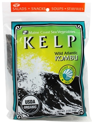 Maine Coast Sea Vegetables - Wild Atlantic Kombu Kelp - 2 oz.