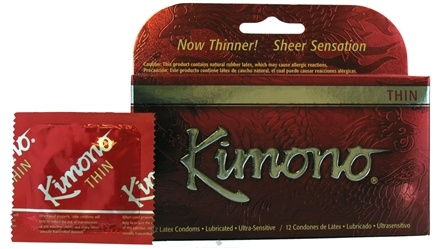 DROPPED: Mayer Laboratories - Kimono Lubricated Latex Condoms Thin - 12 Pack(s) CLEARANCE PRICED