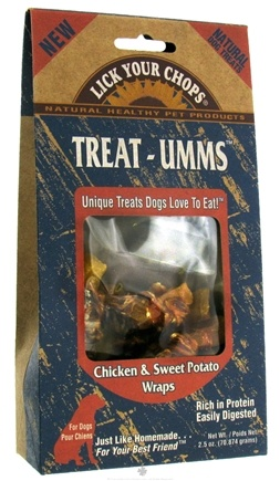 DROPPED: Lick Your Chops - Dog Treats Treat-Umms Chicken & Sweet Potato Wraps - 2.5 oz. CLEARANCE PRICED