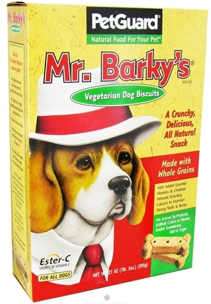 DROPPED: Pet Guard - Dog Biscuits Mr. Barky's Vegetarian Treats - 21 oz. CLEARANCE PRICED