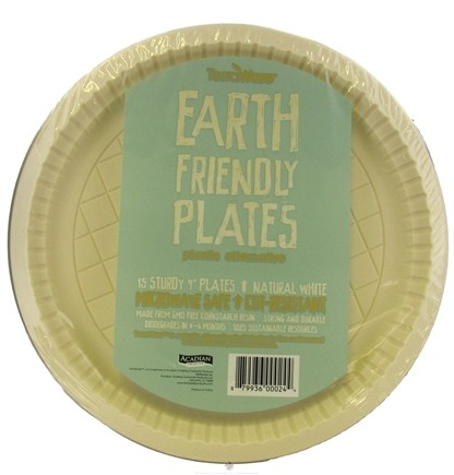 DROPPED: TerraWare - Earth Friendly Plastic Alternative Plates 9 Inch 15 pieces - CLEARANCE PRICED