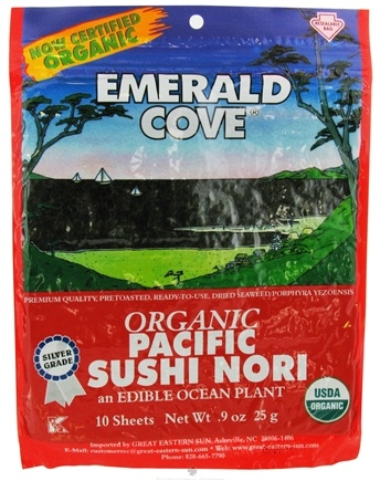 DROPPED: Emerald Cove - Organic Pacific Sushi Nori - 10 Piece(s) CLEARANCED PRICED