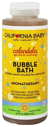 California Baby - Aromatherapy Bubble Bath With Bubble Wand Calendula - 13 oz.