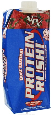 DROPPED: VPX - Protein Rush RTD 7 Stage Protein Complex Strawberry Shake - 17 oz. (formerly called Muscle Power)