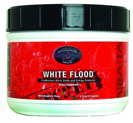 DROPPED: Controlled Labs - White Flood PreWorkout Nitric Oxide and Energy Enhancer White Raspberry - 0.7 lbs. CLEARANCE PRICED