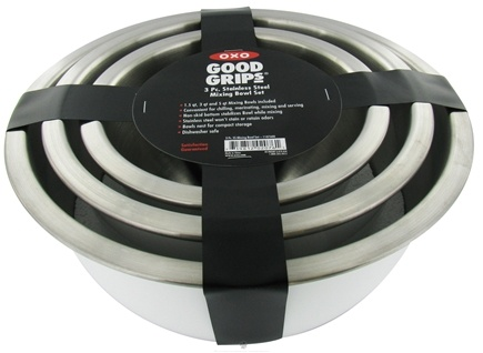 DROPPED: OXO - Good Grips Mixing Bowl Set Stainless Steel - CLEARANCE PRICED