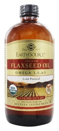 Solgar - Earth Source Organic Flaxseed Oil Omega 3-6-9 - 16 oz.