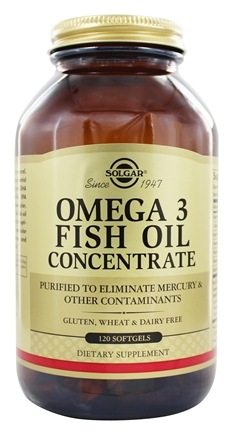 Solgar - Omega 3 Fish Oil Concentrate - 120 Softgels
