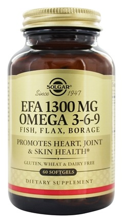 Solgar - EFA Omega 3-6-9 1300 mg. - 60 Softgels