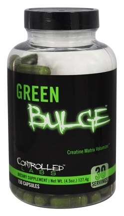 DROPPED: Controlled Labs - Green Bulge Creatine Matrix Volumizer - 150 Capsules CLEARANCE PRICED