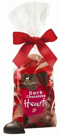 DROPPED: Lake Champlain Chocolates - UNPUBLISHED  All Natural Dark Chocolate Valentine Hearts Gift Bag - 6.5 oz.