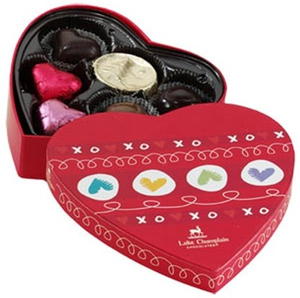 DROPPED: Lake Champlain Chocolates - All Natural Assorted Chocolate Valentine Heart Box - 3 oz.