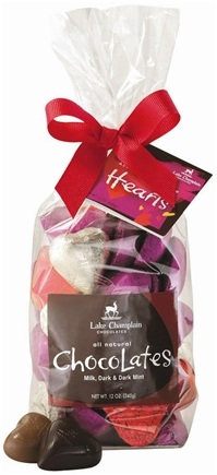 DROPPED: Lake Champlain Chocolates - UNPUBLISHED All Natural Assorted Chocolate Valentine Hearts Gift Bag - 12 oz.