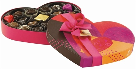 DROPPED: Lake Champlain Chocolates - UNPUBLISHED All Natural Assorted Chocolate Valentine Grand Heart Box - 11 oz.