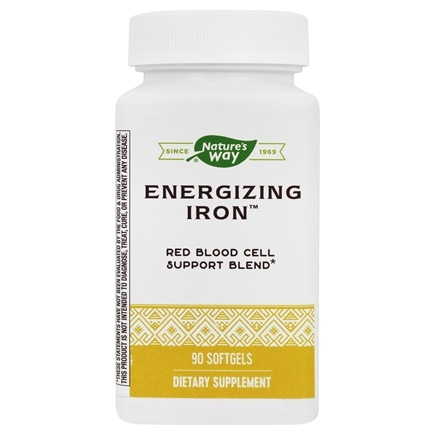 Enzymatic Therapy - Energizing Iron - 90 Softgels