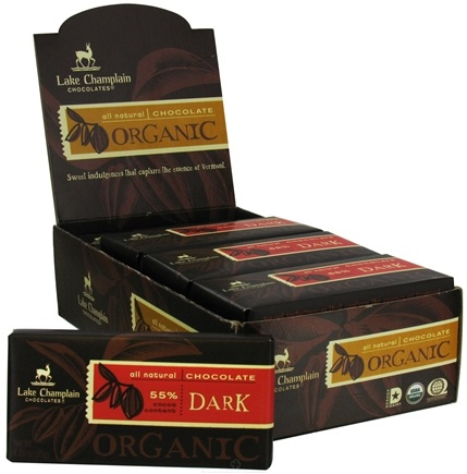 DROPPED: Lake Champlain Chocolates - All Natural Organic Dark Chocolate Bar - 1.25 oz. CLEARANCE PRICED