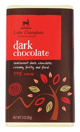 DROPPED: Lake Champlain Chocolates - All Natural Dark Chocolate Bar - 3 oz. CLEARANCE PRICED