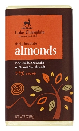 DROPPED: Lake Champlain Chocolates - All Natural Almond Chocolate Bar - 3 oz. CLEARANCE PRICED