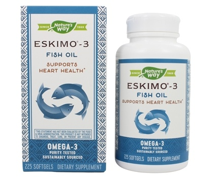 Enzymatic Therapy - Eskimo-3 Naturally Stable Fish Oil Ultra-Pure Omega-3 - 225 Softgels