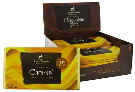 DROPPED: Lake Champlain Chocolates - All Natural Caramel Chocolate Bar - 3.25 oz. CLEARANCE PRICED