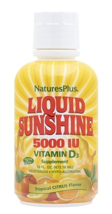 Nature's Plus - Liquid Sunshine Vitamin D3 Tropical Citrus 5000 IU - 16 oz.
