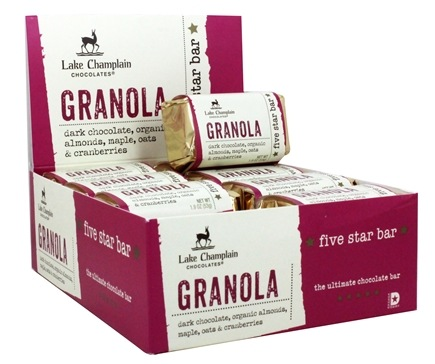 DROPPED: Lake Champlain Chocolates - All Natural Five Star Chocolate Bar Granola - 1.9 oz. CLEARANCE PRICED