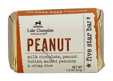 DROPPED: Lake Champlain Chocolates - All Natural Five Star Chocolate Bar Peanut - 1.9 oz. CLEARANCE PRICED