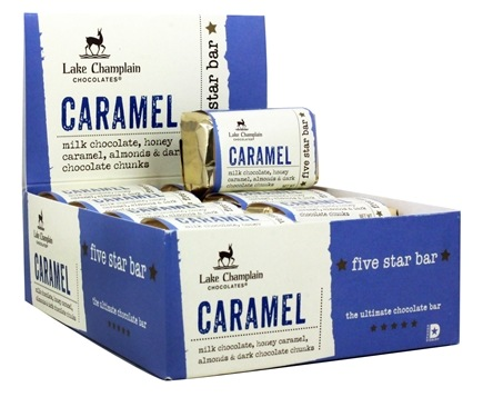 DROPPED: Lake Champlain Chocolates - All Natural Five Star Chocolate Bar Caramel - 1.8 oz. CLEARANCE PRICED