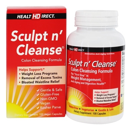 Health Direct - Sculpt n' Cleanse Colon Cleansing Formula 450 mg. - 100 Capsules