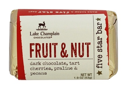DROPPED: Lake Champlain Chocolates - All Natural Five Star Chocolate Bar Fruit & Nut - 1.9 oz.
