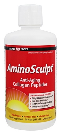 DROPPED: Health Direct - AminoSculpt Supreme Collagen Original Patented Liquid Formula Cherry Flavor - 32 oz.