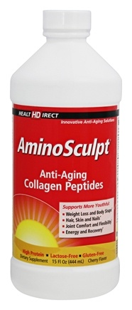 Health Direct - AminoSculpt Anti-Aging Collagen Original Patented Liquid Formula Cherry Flavor - 16 oz.