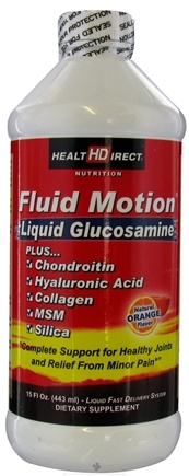 DROPPED: Health Direct - Fluid Motion Liquid Glucosamine Natural Orange Flavor - 15 oz.