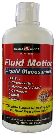 DROPPED: Health Direct - Fluid Motion Liquid Glucosamine Natural Orange Flavor - 30 oz.