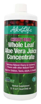Aloe Life - Aloe Vera Juice Concentrate Cherry Berry - 32 oz. (formerly Whole Leaf)