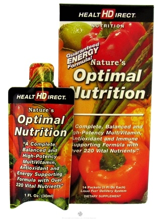 DROPPED: Health Direct - Nature's Optimal Nutrition Liquid Multi Vitamin - 14 Packet(s)