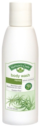 DROPPED: Nature's Gate - Body Wash Velvet Moisture Hemp Trial Size - 2 oz. CLEARANCE PRICED