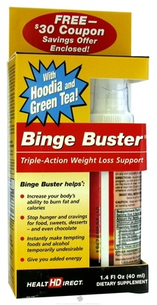 DROPPED: Health Direct - Binge Buster Triple-Action Weight Loss Support With Hoodia & Green Tea - 1.4 oz.