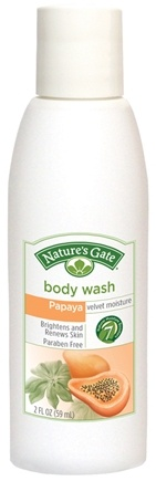 DROPPED: Nature's Gate - Body Wash Velvet Moisture Papaya Trial Size - 2 oz. CLEARANCE PRICED