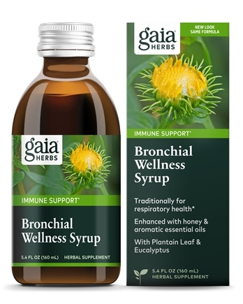 Gaia Herbs - Rapid Relief Immune Support Bronchial Wellness Herbal Syrup - 5.4 oz.