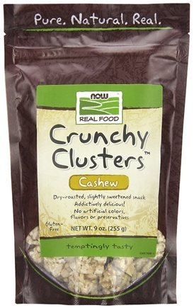 DROPPED: NOW Foods - Healthy Foods Cashew Crunch Clusters Dry Roasted All Natural Snack - 9 oz.