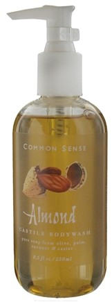 DROPPED: Common Sense Farm - Castile Bodywash Almond - 8.5 oz. CLEARANCE PRICED