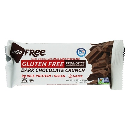 NuGo Nutrition - Gluten Free Bar Dark Chocolate Crunch - 1.59 oz.
